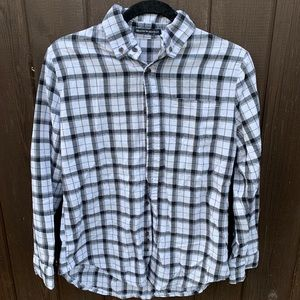 Brandy Melville black and white flannel